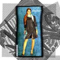 Robe rétro et foulard en soie